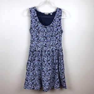 Jack Wills Blueberry Print Blue Dress Fit & Flare